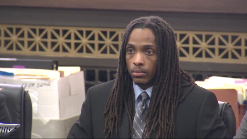 Kenneth Williams reacts as the jury delivers their verdict