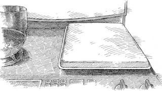 Illustration for article titled Use an Upside-Down Baking Pan to Reduce Stovetop Splatter