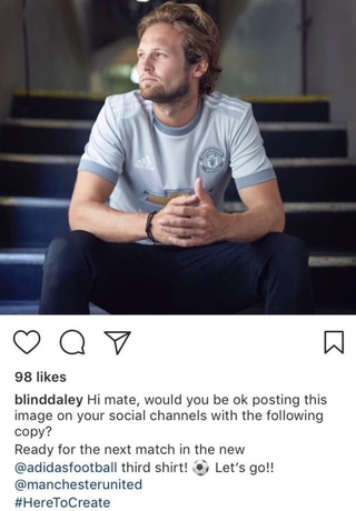 Illustration for article titled Daley Blind Is Okay Posting This Image On His Social Channels With The Following Copy