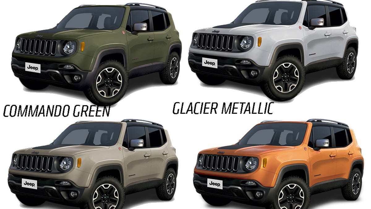 Jeep Renegade Colors >> 2015 Jeep Renegade Will Come In A Big Selection Of Great Colors