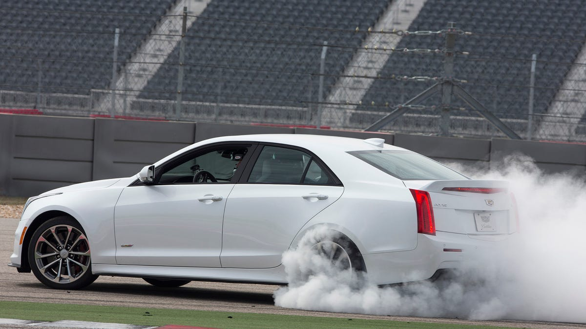 I Rode Shotgun For Sick 455 HP Burnouts In The 2016 Cadillac