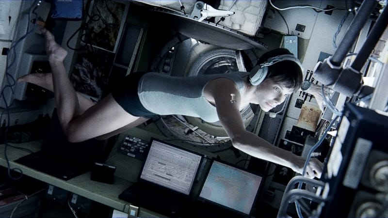 Screenshot from the film Gravity