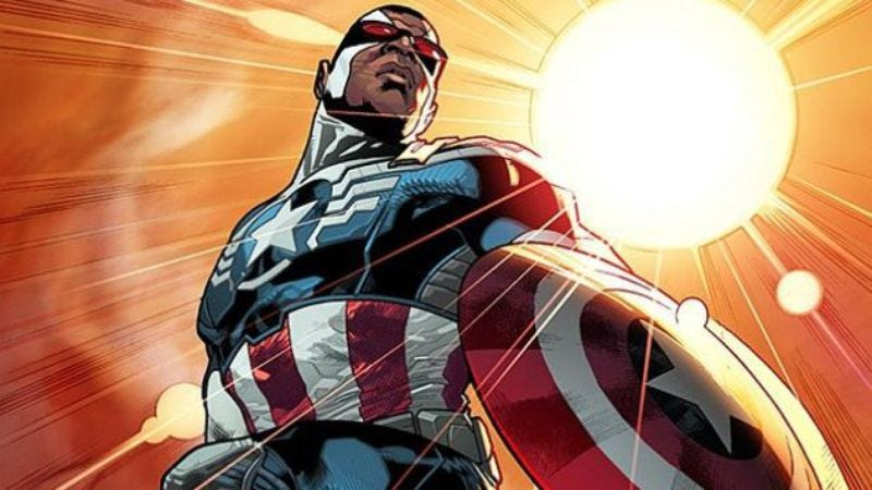 Illustration for article titled Stephen Colbert introduced the new Captain America