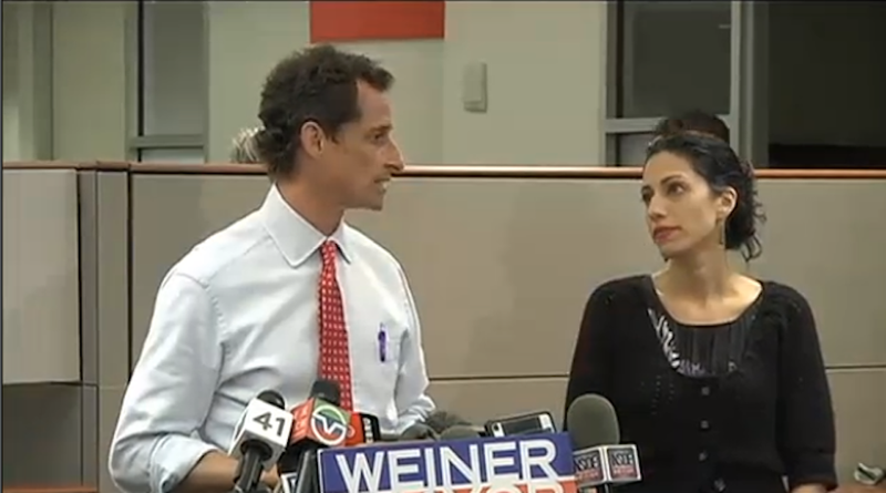 Illustration for article titled Anthony Weiner and Huma Abedin Make Faces