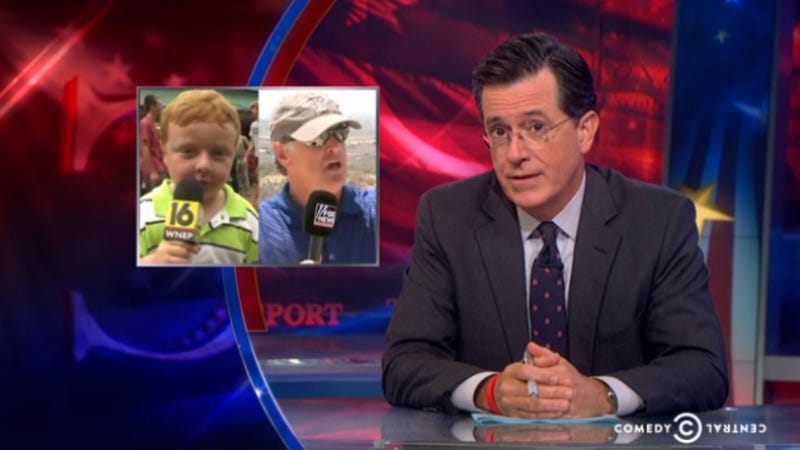 Illustration for article titled Colbert: 'Apparently Kid' Is Coming for America's News Professionals