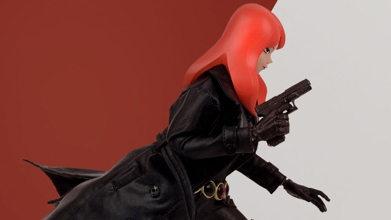 Illustration for article titled Black Widow Gets Animated For This Super-Stylized Action Figure