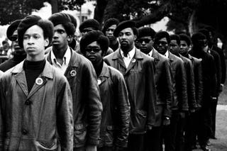 Black Panthers on parade at a Free Huey rally in DeFremery Park in Oakland, Calif., July 28, 1968Courtesy of Stephen Shames