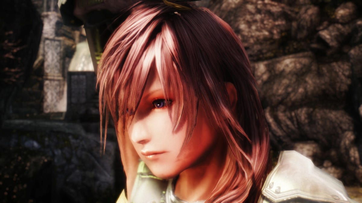Final Fantasy XIII's Lightning Reborn in a Skyrim Mod