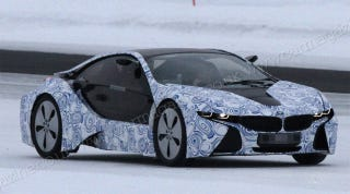 Illustration for article titled BMW's Mission Impossible Hybrid Car Goes for an Icy Test Run