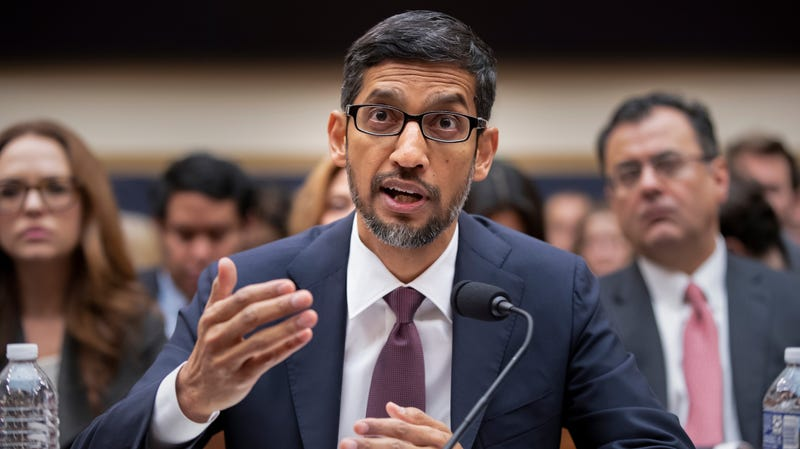 Illustration for article titled Sundar Pichai Tells Congress Google Has No Plans to Launch Censored Search in China 'Right Now'