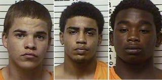 Suspects in Christopher Lane's death: Michael Jones, Chancey Luna and James Edwards Jr. (Oklahoma Sheriff's Dept.)