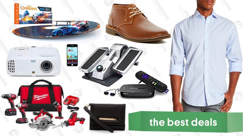 Illustration for article titled Thursday's Best Deals: Clear The Rack, 4K Projector, Power Tools, and More
