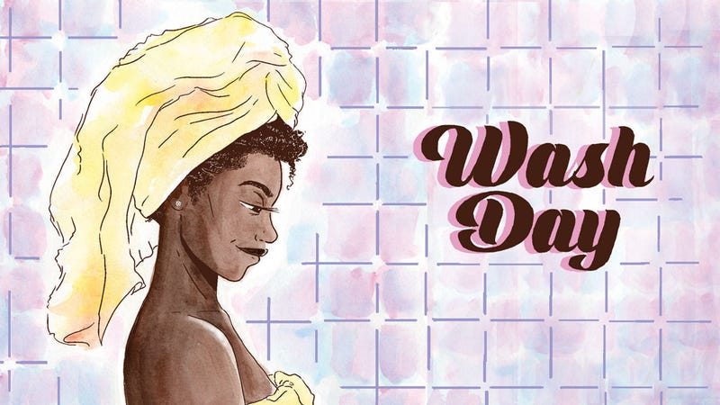 Illustration for article titled Comic Relief: Wash Day Captures the Radical Self-Love in a Hair-Care Ritual