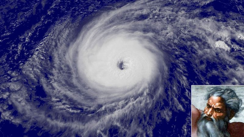 Illustration for article titled God Announces Successful Test Of First Category 7 Hurricane