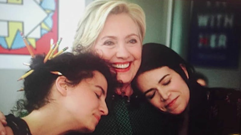 Illustration for article titled Abbi and Ilana Went on Today to Fangirl Over Hillary's Upcoming Broad City Appearance