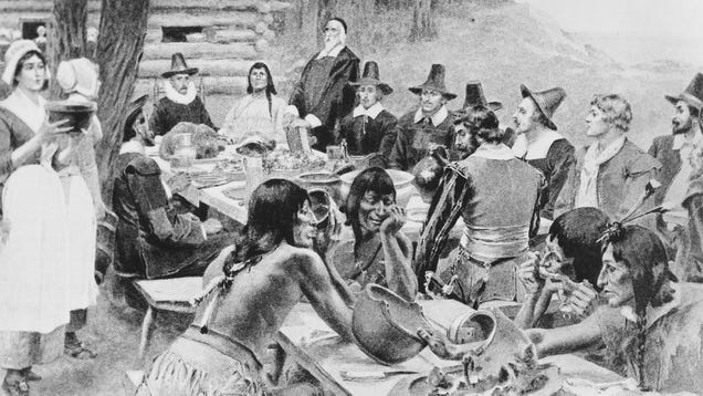 Historians Say That First Thanksgiving Wasn't Total Fuckfest That's Taught In Schools