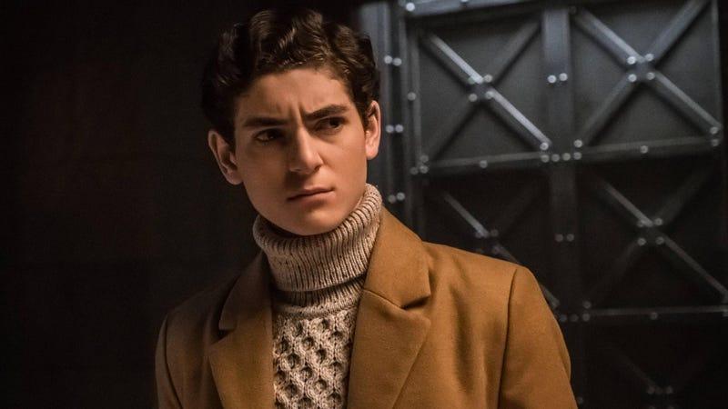 David Mazouz as Gotham's young Bruce Wayne.