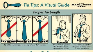 Illustration for article titled This Infographic Shows You How to Wear a Tie with Style