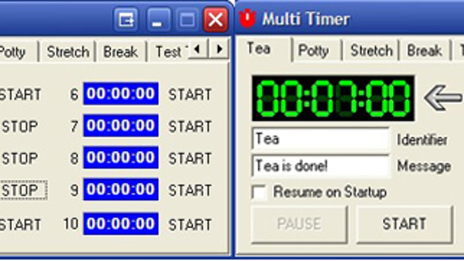 Multi-Timer Counts Down to More Than One Event