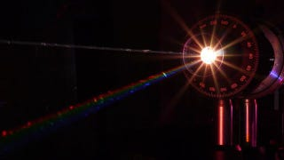 Illustration for article titled A Prism That Shoots Concentrated Beams of Rainbows