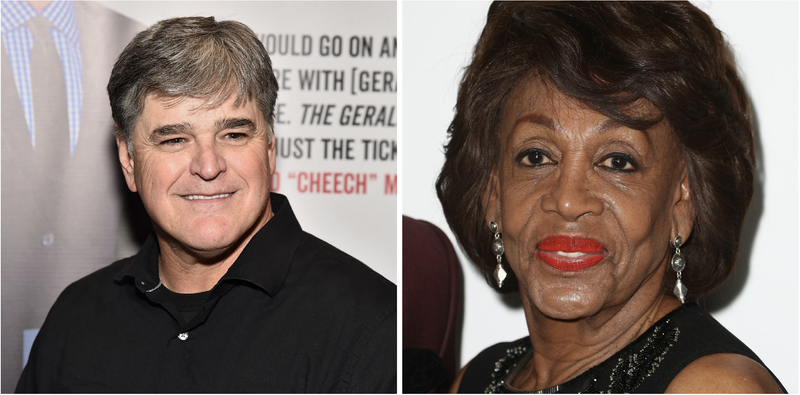 Illustration for article titled Sean Hannity Blames Maxine Waters for the Capital Gazette Shooting