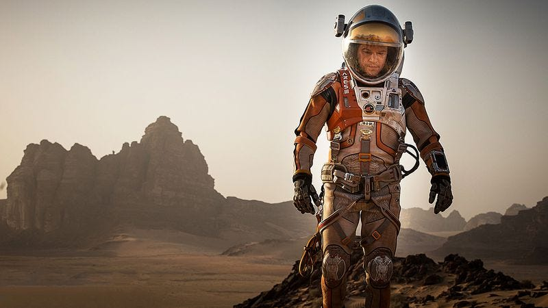 Illustration for article titled Ridley Scott's The Martian will give faith to secular science geeks
