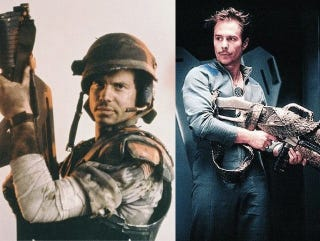 """Illustration for article titled Sam Rockwell: """"I copied everything I did in Galaxy Quest from Bill Paxton in Aliens"""""""