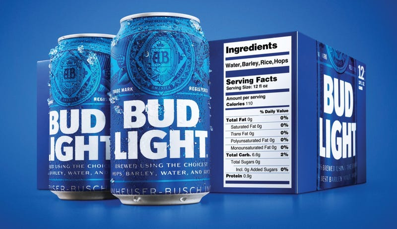 Bud Light Becomes First American Beer Labeled With Nutritional Facts
