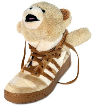 Illustration for article titled Lil Wayne's Teddy Bear Sneakers Can Be Yours