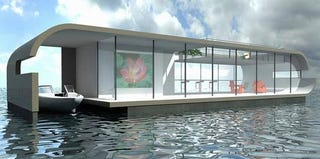 Illustration for article titled Modern Boat Homes to Survive Rising Sea Level