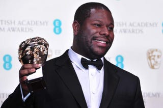 British director Steve McQueen with the award for best film for 12 Years a Slave at the BAFTA British Academy Film Awards at the Royal Opera House in London, Feb. 16, 2014CARL COURT/AFP/Getty Images