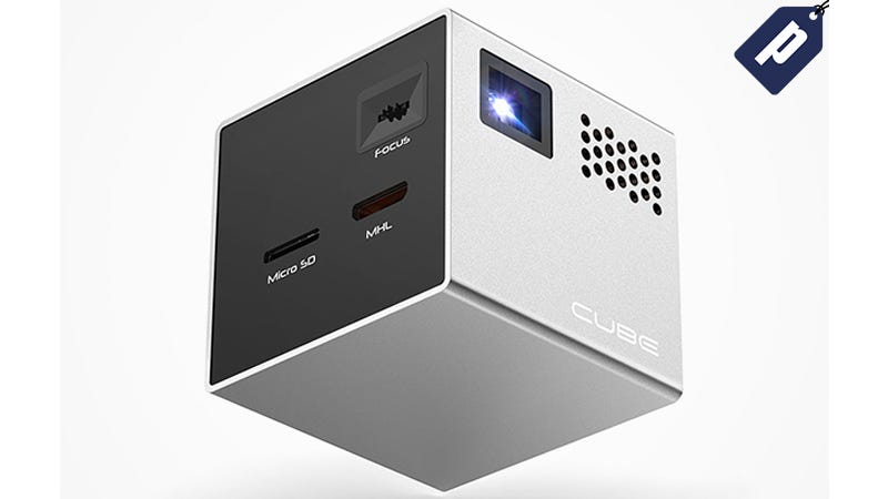 Illustration for article titled Last Chance: Save $50 On The Cube Pico Projector (Free Shipping)