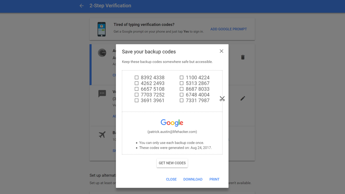 How to Find and Store Your Account Recovery Passcodes