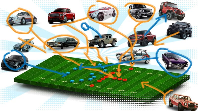 Illustration for article titled What Cars Should Play What Football Positions?