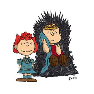 Illustration for article titled Game of Thrones X Peanuts Mash-Up by Raid71