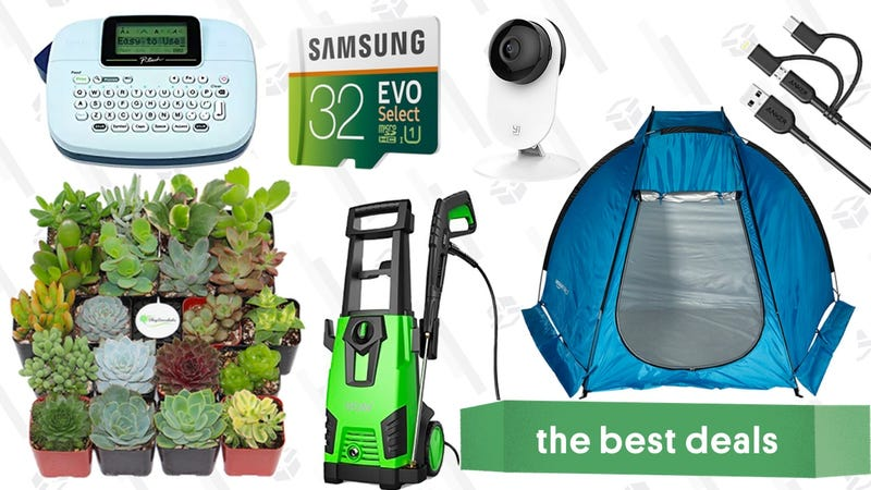 Illustration for article titled Monday's Best Deals: Succulents, Power Washer, MicroSD Cards, and More