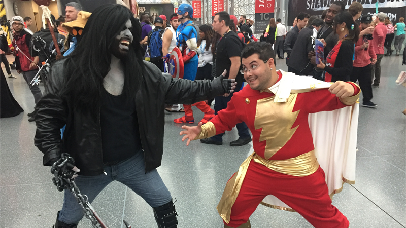 Lobo and Shazam duke it out! All images by Evan Narcisse unless otherwise stated.