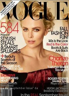 Illustration for article titled Charlize Sits For Vogue; Corinne Day Seriously Ill