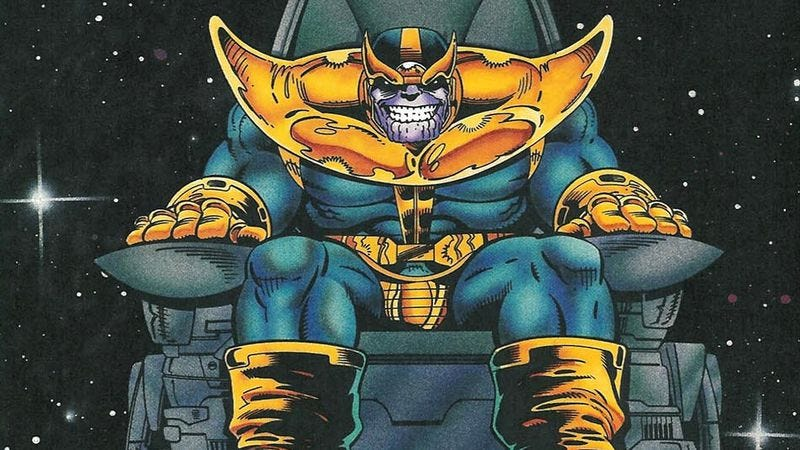 Illustration for article titled Marvel releases official dimly lit image of Josh Brolin as Thanos