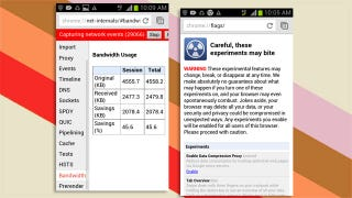 Turn on Data Compression in Chrome Beta for Android for Faster