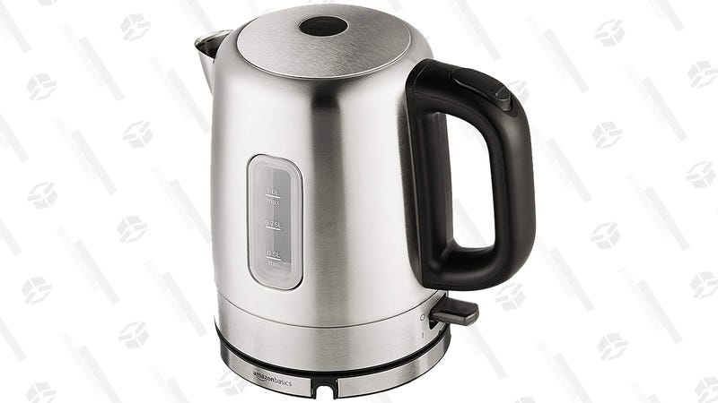 AmazonBasics 1-Liter Stainless Steel Electric Kettle | $13 | Amazon