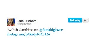Illustration for article titled Lena Dunham Catches Donald Glover Red-Handed