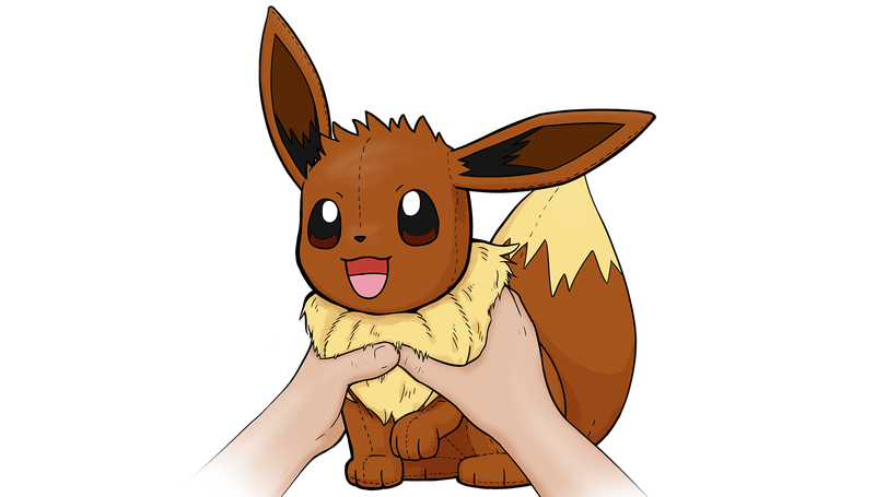 """Tighten your bond with your beloved Eevee. Hug this feature plush Eevee to make its ears move and activate cute sounds. Three modes with 10 sounds and phrases. SRP: $29.99. Ages: 3 years and up."""