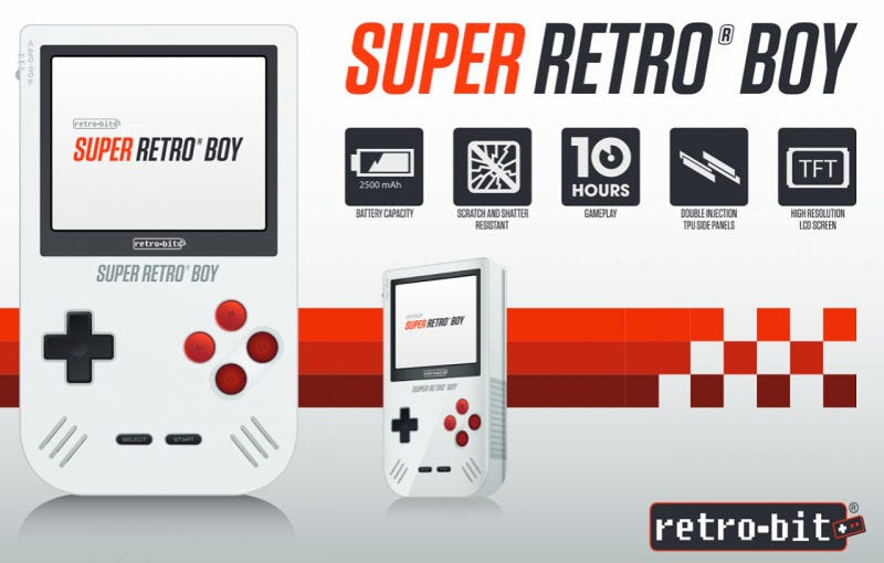 Illustration for article titled Super Retro Boy es la Game Boy adaptada al siglo XXI que querrás tener