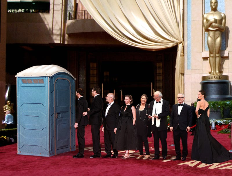 Illustration for article titled Red Carpet Organizers Regret Only Renting One Porta Potty