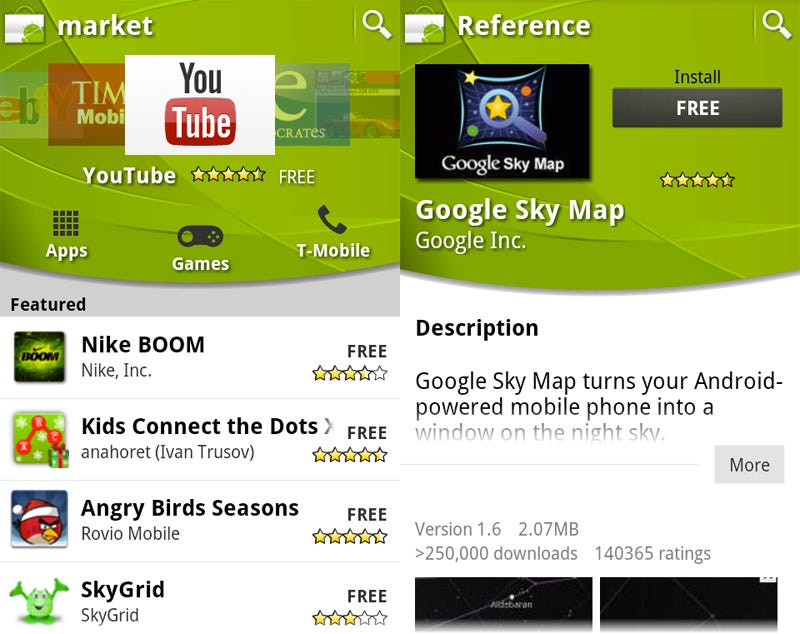 Illustration for article titled An Update to Android Market Brings a Brand New Android Market
