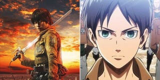Illustration for article titled Attack on Titan Movie Stars Versus the Anime and Manga Characters