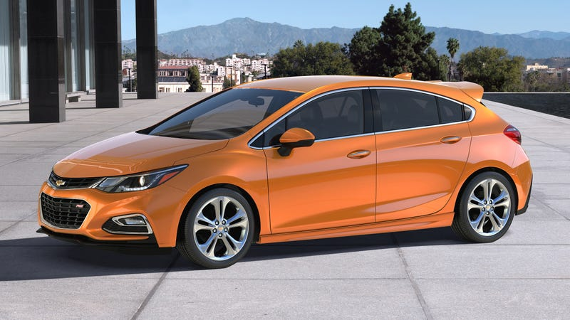 ... all new Cruze sedan, and now this: The Chevy Cruze 5-door hatchback