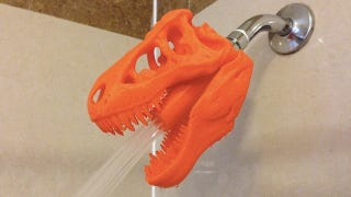 Illustration for article titled T-Rex Skull Shower Heads Justify the Existence of 3D Printers
