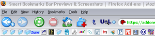 Illustration for article titled Download of the Day: Smart Bookmarks Bar (Firefox)